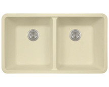 Polaris P208BE Double Equal Bowl AstraGranite Kitchen Sink