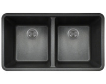 Polaris P208BL Double Equal Bowl AstraGranite Kitchen Sink