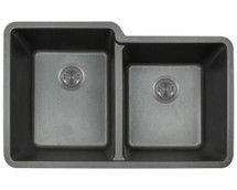 Polaris P108BL Double Offset Bowl AstraGranite Sink