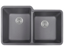 Polaris P108S Double Offset Bowl AstraGranite Sink