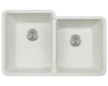 Polaris P108W Double Offset Bowl AstraGranite Sink