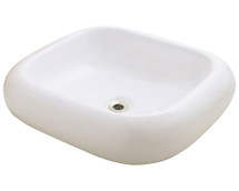 Polaris P011VB Pillow Top Porcelain Vessel Sink