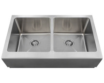 Polaris P604 Double Equal Bowl Apron Sink