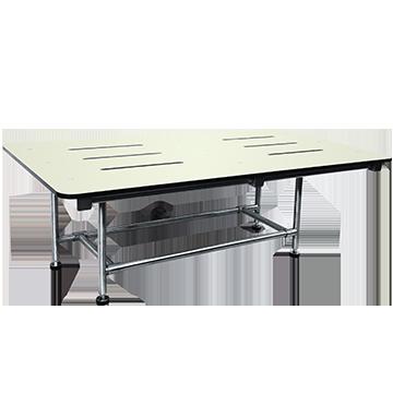 "(ASI (10-8209) Folding Shower Seat  - Four Leg, ADA - Solid Phenolic, White - 48""W"