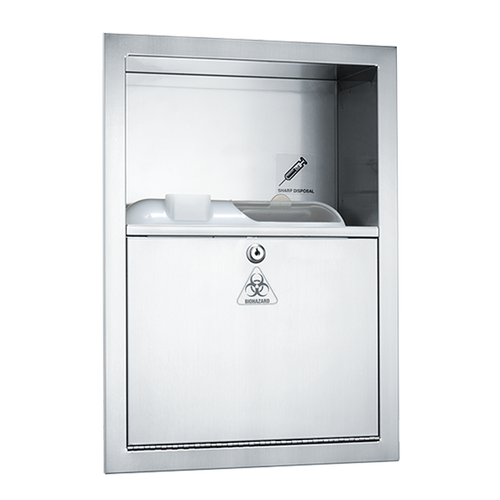 ASI (10-0548) Traditional - Sharps Disposal Cabinet - Container Not Included - Recessed