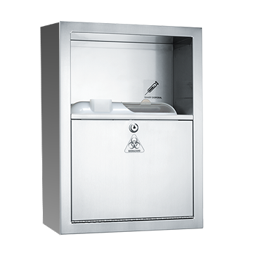 ASI (10-0548-9) Traditional - Sharps Disposal Cabinet - Container Not Included - Surface Mounted