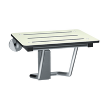 "ASI (10-8203-20) Folding Shower Seat - Rectangular, ADA - Solid Phenolic, White - Compact 20""W"