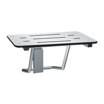 "ASI (10-8203-28) Folding Shower Seat - Rectangular, ADA - Solid Phenolic, White - 28""W"
