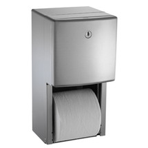 ASI (10-20031) Twin Hide-a-Roll Toilet Tissue Dispenser, Semi-Recessed