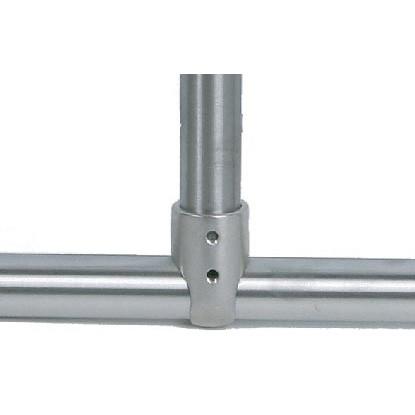 "Brey Krause (D-6060-01-SC) Shower Rod Tee Fitting - 1"", Satin Chrome Finish"