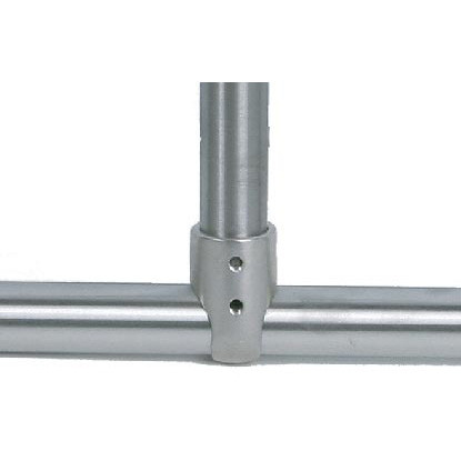 "Brey Krause (D-6062-01-SC) Shower Rod Tee Fitting - 1-1/4"", Satin Chrome Finish"