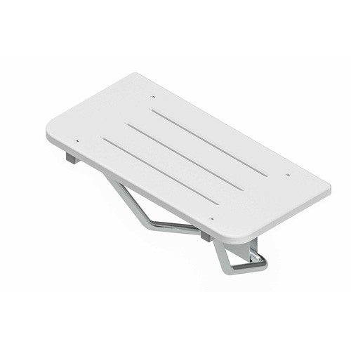 Brey Krause (S-6219-SS) Rectangular Shower Seat - White Sanalite Deck