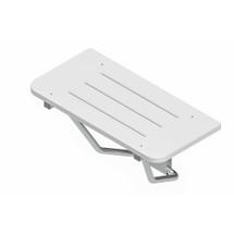 Brey Krause (S-6219-SS) Rectangular Shower Seat - White Sanalite Deck