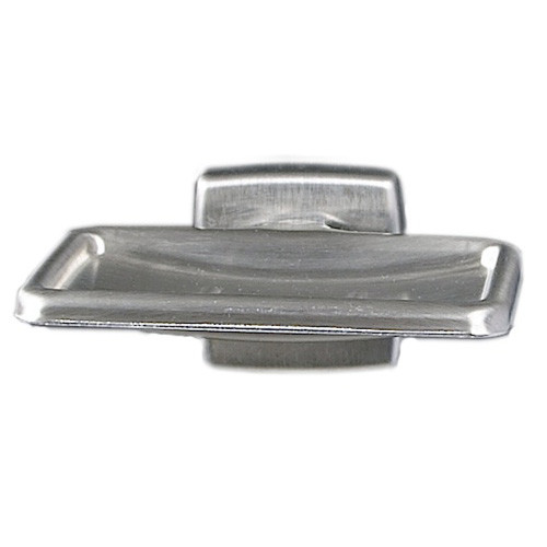 Brey Krause (S-4911-BS) Soap Dish without Drain, Bright Stainless Finish