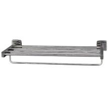"Brey Krause (S-4974-18-SS) Towel Supply Shelf - with bar, 18"", Satin Stainless Finish"