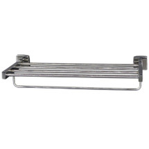 "Brey Krause (S-4974-24-SS) Towel Supply Shelf - with bar, 24"", Satin Stainless Finish"