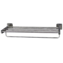 "Brey Krause (S-4974-24-BS) Towel Supply Shelf - with bar, 24"", Bright Stainless Finish"