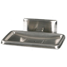 Brey Krause (S-4510-BS) Soap Dish with Drain, Bright Stainless Finish
