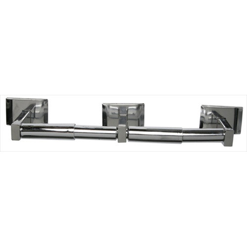 Brey Krause (S-4558-BS) Double Paper Holder, Bright Stainless Finish