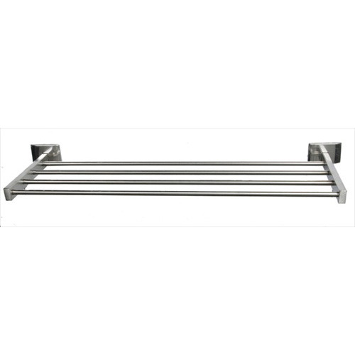 """Brey Krause (S-4572-18-BS) Towel Supply Shelf - without bar - 18"""", Bright Stainless Finish"""