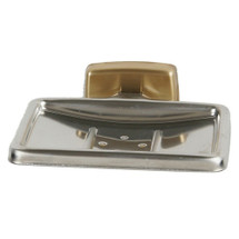 Brey Krause (S-4811-BB) Soap Dish without Drain, Bright Brass Finish