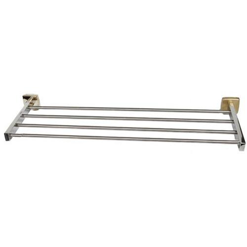 "Brey Krause (S-4872-18-BB) Towel Supply Shelf - without Bar - 18"", Bright Brass Finish"