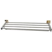 "Brey Krause (S-4874-24-BB) Towel Supply Shelf - with Bar - 24"", Bright Brass Finish"