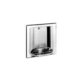 Brey Krause (S-2611-SS) Recessed Soap and Tumbler Holder without Tray, Satin Stainless Finish