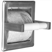 Brey Krause (S-2652-SS) Recessed Toilet Paper Holder - with Storage, Satin Stainless Finish