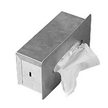 Brey Krause (S-2680-BS) Recessed Rectangular Tissue Dispenser - Rectangular, Bright Stainless Finish