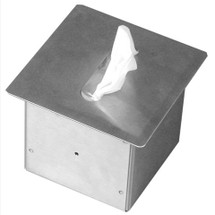 Brey Krause (S-2681-BS) Recessed Square Facial Tissue Dispenser - Square, Bright Stainless Finish