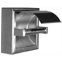 Brey Krause (S-2675-BS) Toilet Paper Holder - Hinged Hood, Surface Mount, Bright Stainless Finish