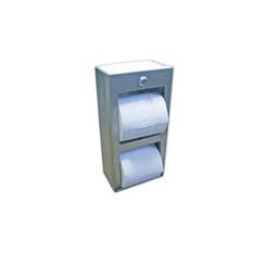 Brey Krause (C-1040-SS) Locking Double Roll Toilet Tissue Dispenser, Satin Stainless Finish