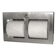 Brey Krause (C-1041-SS) Multi-Roll Toilet Tissue Holder - Horizontal, Surface Mount, Satin Stainless Finish