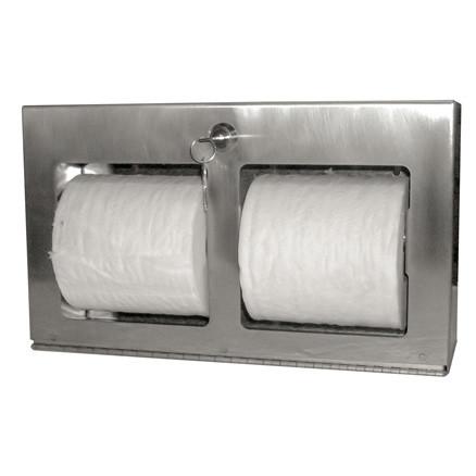 Brey Krause (C-1041-01-SS) Multi-Roll Toilet Tissue Holder - Horizontal, Surface Mount, Satin Stainless Finish