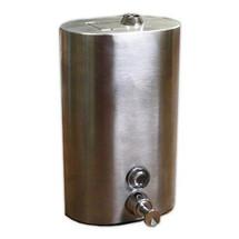 Brey Krause (S-0125-SS) Heavy Duty Liquid Soap Dispenser - 40 oz. - Vertical Mount with Tumbler Lock, Satin Stainless Finish