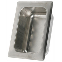 Brey Krause (S-2620-SS) Heavy Duty Recessed Tumbler Holder - Wet wall, Mortar Mount, Satin Stainless Finish