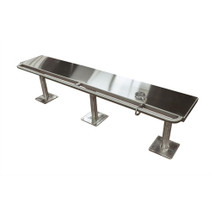 Brey Krause (S-4096-60-SS) Detention Bench with Handcuff Bar - 60 inches long - Satin Stainless Finish