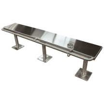 Brey Krause (S-4096-72-SS) Detention Bench with Handcuff Bar - 72 inches long - Satin Stainless Finish