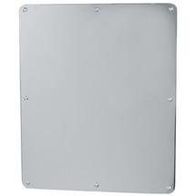 """Brey Krause (T-8010-BS) Security Mirror - One Piece, Frameless Exposed Mounting, 12"""" X 14"""""""