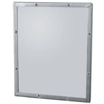 """Brey Krause (T-8013-SS) Security Mirror - Seamless Frame with Exposed Mount, 12"""" X 14"""""""