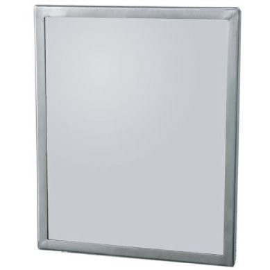 """Brey Krause (T-8014-SS) Security Mirror - Seamless Frame with Concealed Mount, 12"""" X 14"""""""