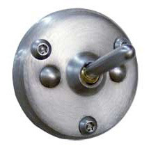 Brey Krause (S-4040-SS) Anti-Ligature Security Hook - Exposed Mounting, Satin Stainless Finish
