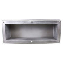 Brey Krause (S-4090-SS) Security Recessed Shelf - Exposed Mount, Satin Stainless Finish