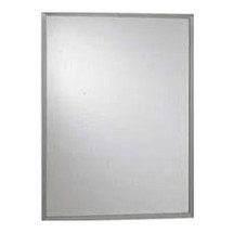 Brey Krause (T-1016-24-SS) Commercial Mirror - 16 in. X 24 in., Satin Stainless Frame