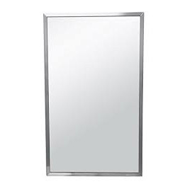 Brey Krause (T-1024-30-SS) Commercial Mirror - 24 in. X 30 in., Satin Stainless Frame