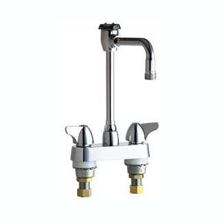 Chicago Faucets (1895-GN8BVBE2-2CP) Hot and Cold Water Sink Faucet