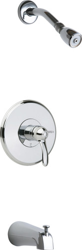 Chicago Faucets (1905-TKCP) Tub and Shower Trim Kit with Shower Head and Diverter Tub Spout