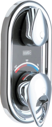 Chicago Faucets (2500-VOCCP) TempShield Thermostatic Pressure Balancing Shower Valve With Trim