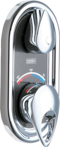 Chicago Faucets (2500-VOCXKCP) TempShield Thermostatic Pressure Balancing Shower Valve With Trim